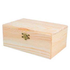 Caja de madera con bisagras