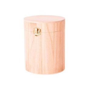 Caja de madera elegante redonda