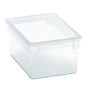 Caja de plástico grande con tapa