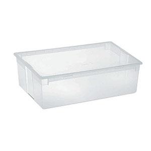 Caja de plástico alargada transparente