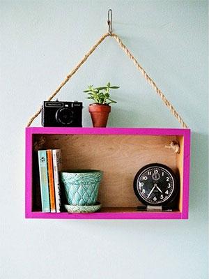 Estante con caja de madera DIY