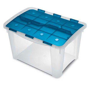 Cajas de plástico grandes con tapa de color