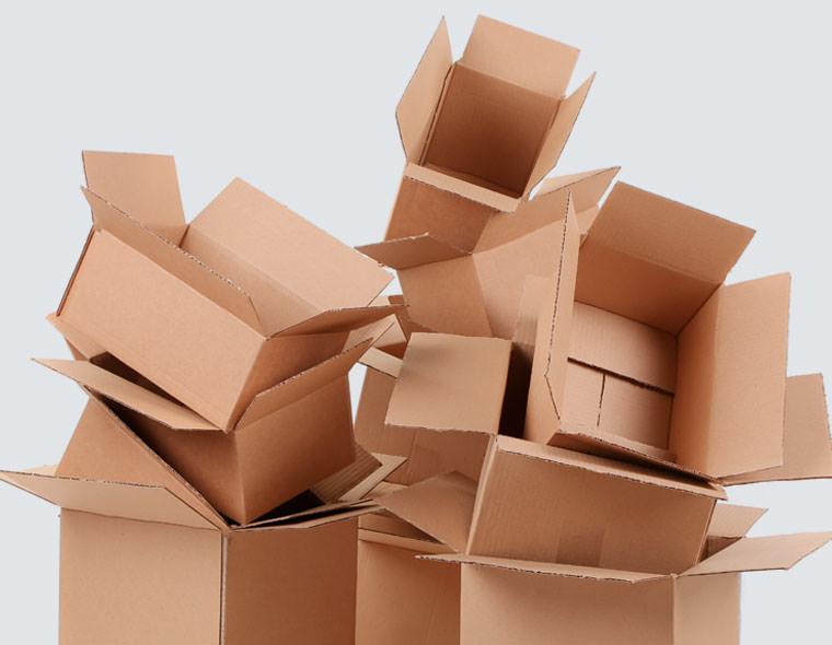 Tota mena de caixes de cartó