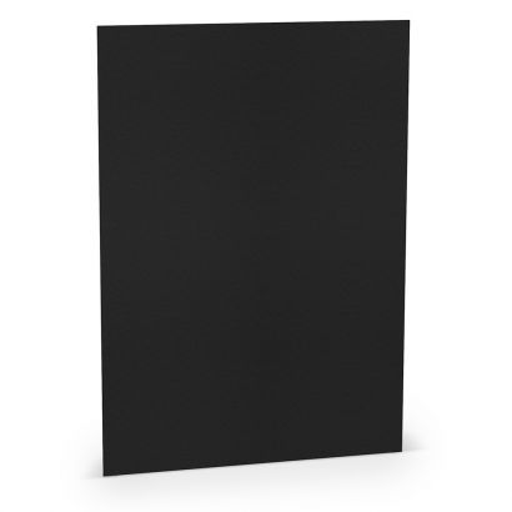 Tarjeta A-4 Papel 220gr Negro 210x297mm (10u.)