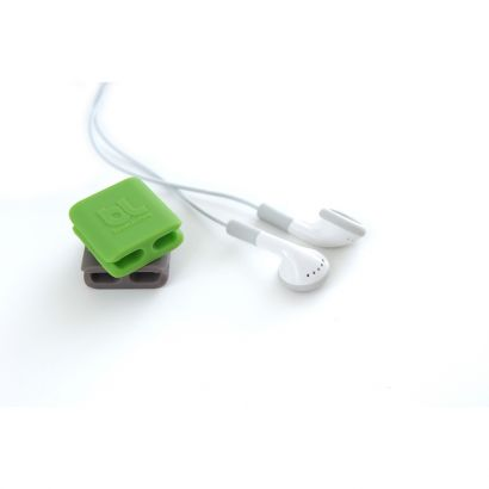 Sujeta Cables Clip Verde/Gris Pequeño