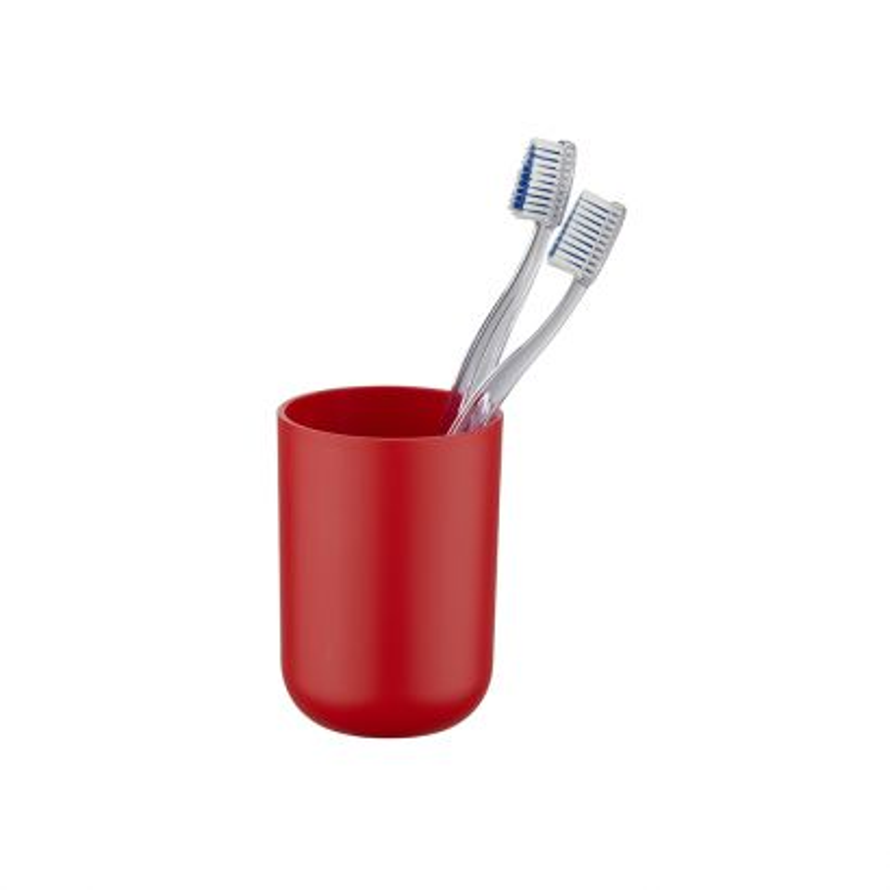 Vaso de dientes Brasil rojo Wenko