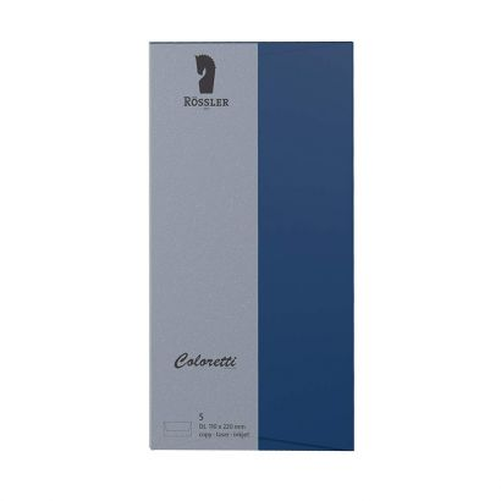 Sobre Americano Papel 100gr Azul Jeans 110x220mm (5u.)