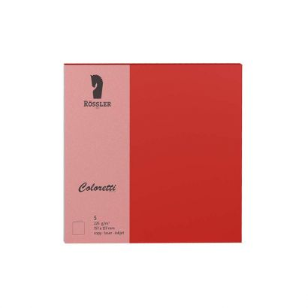 Tarjeta Doble Cuad. Papel 165gr Rojo Amapola 157/314x160 (5u.)