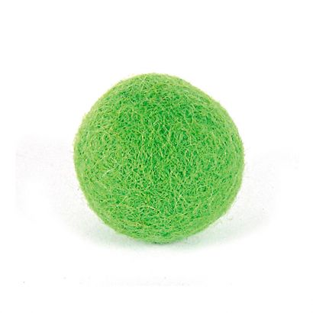 Bola Fieltro Felthu Verde Citrico 25 Mm. (3u.)