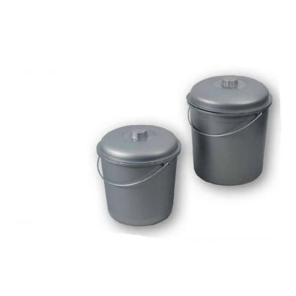 Cubo Basura Plástico Plata 17l