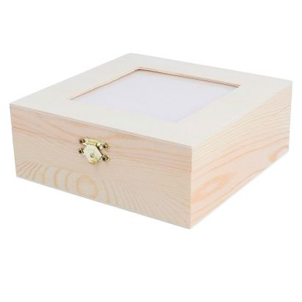 Caja te con Cristal 16x16x6 Separ Ref. 7632
