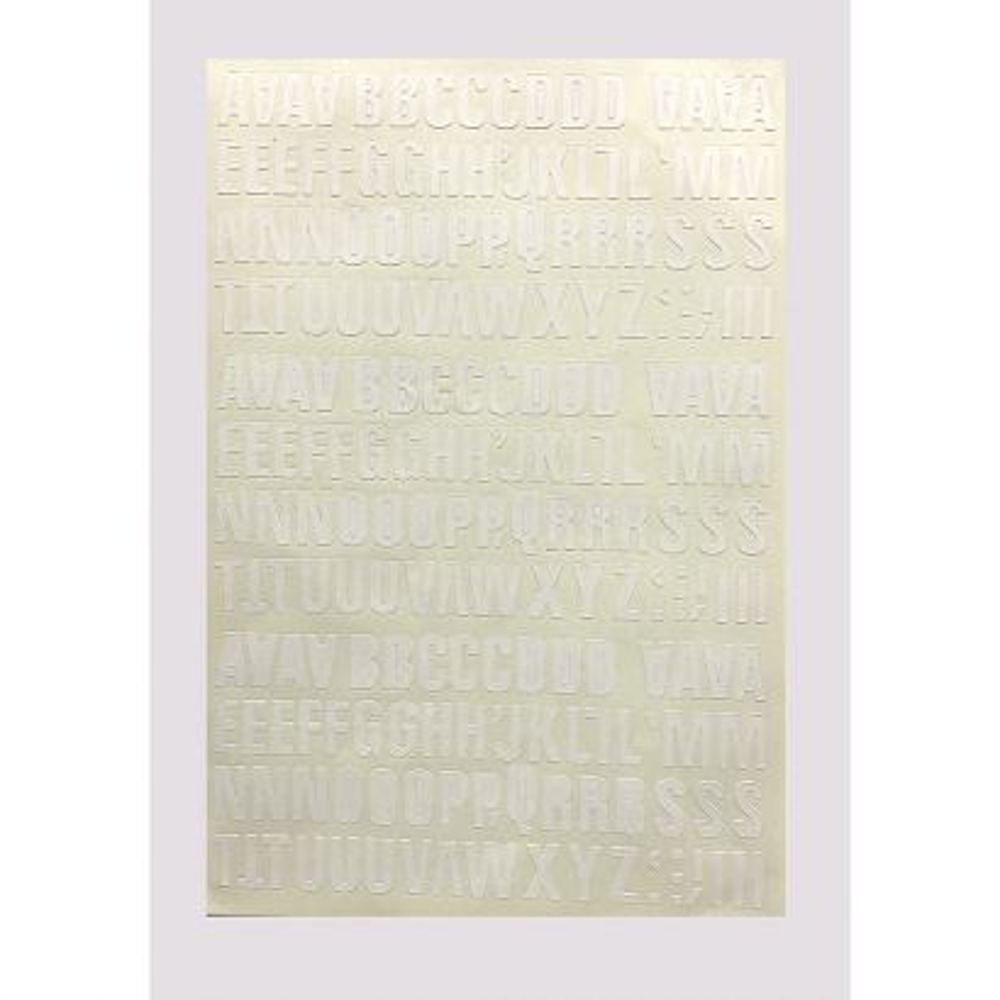 Letra Folio Mayúscula 20mm Blanca