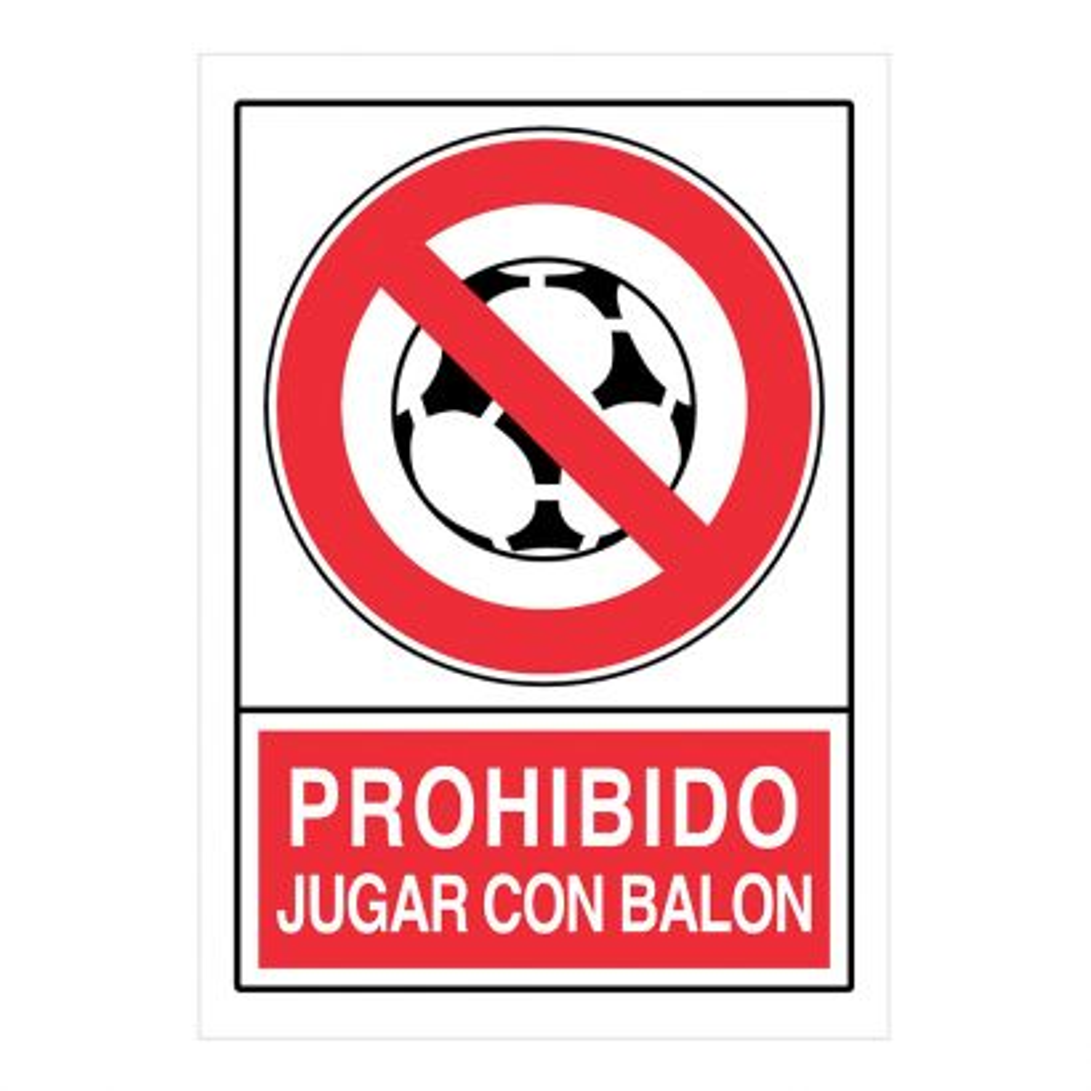 S. Proh. Jugar C/Balon Pr-480 21x30