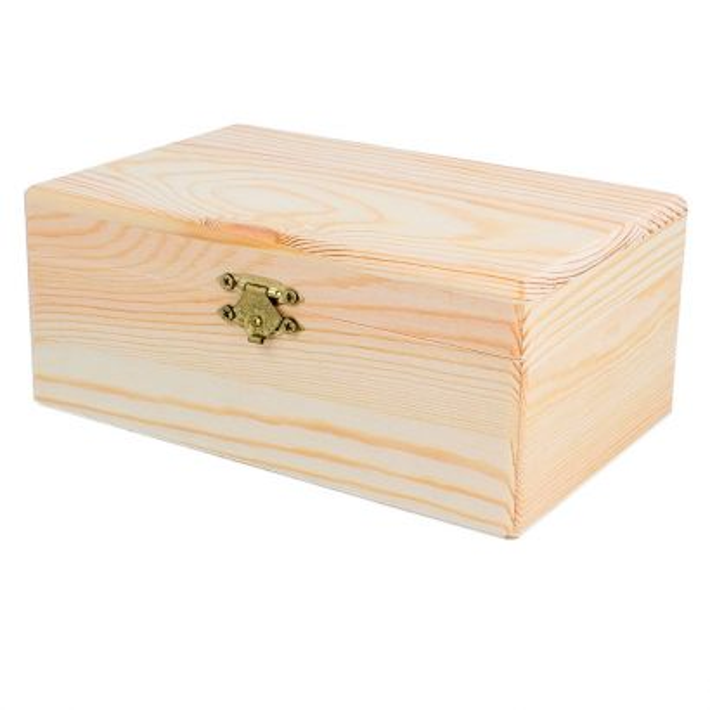 Caja Madera de Pino Macizo Rectangular 17x11x7cm