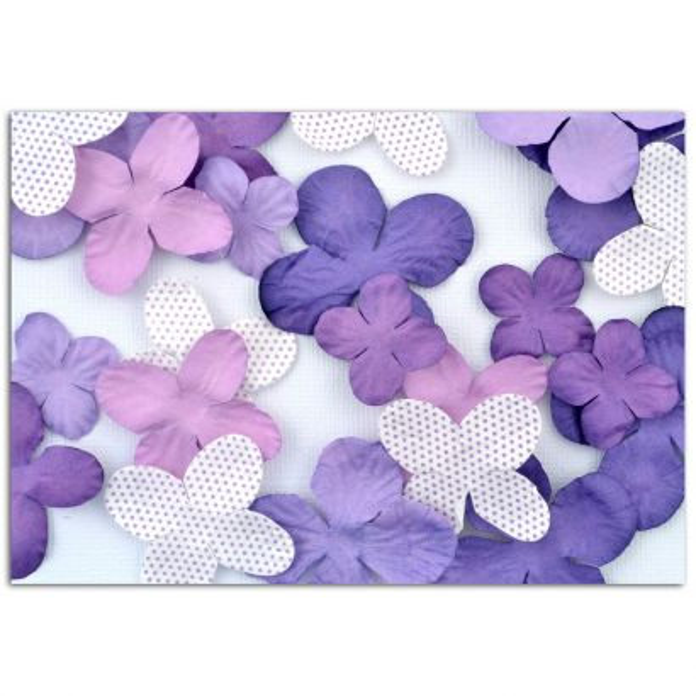 Surtido 25 flores violeta