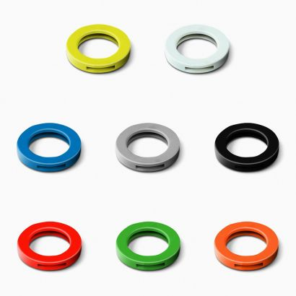 Anilla identificación llave / 8 colores. Blister 8 uds.