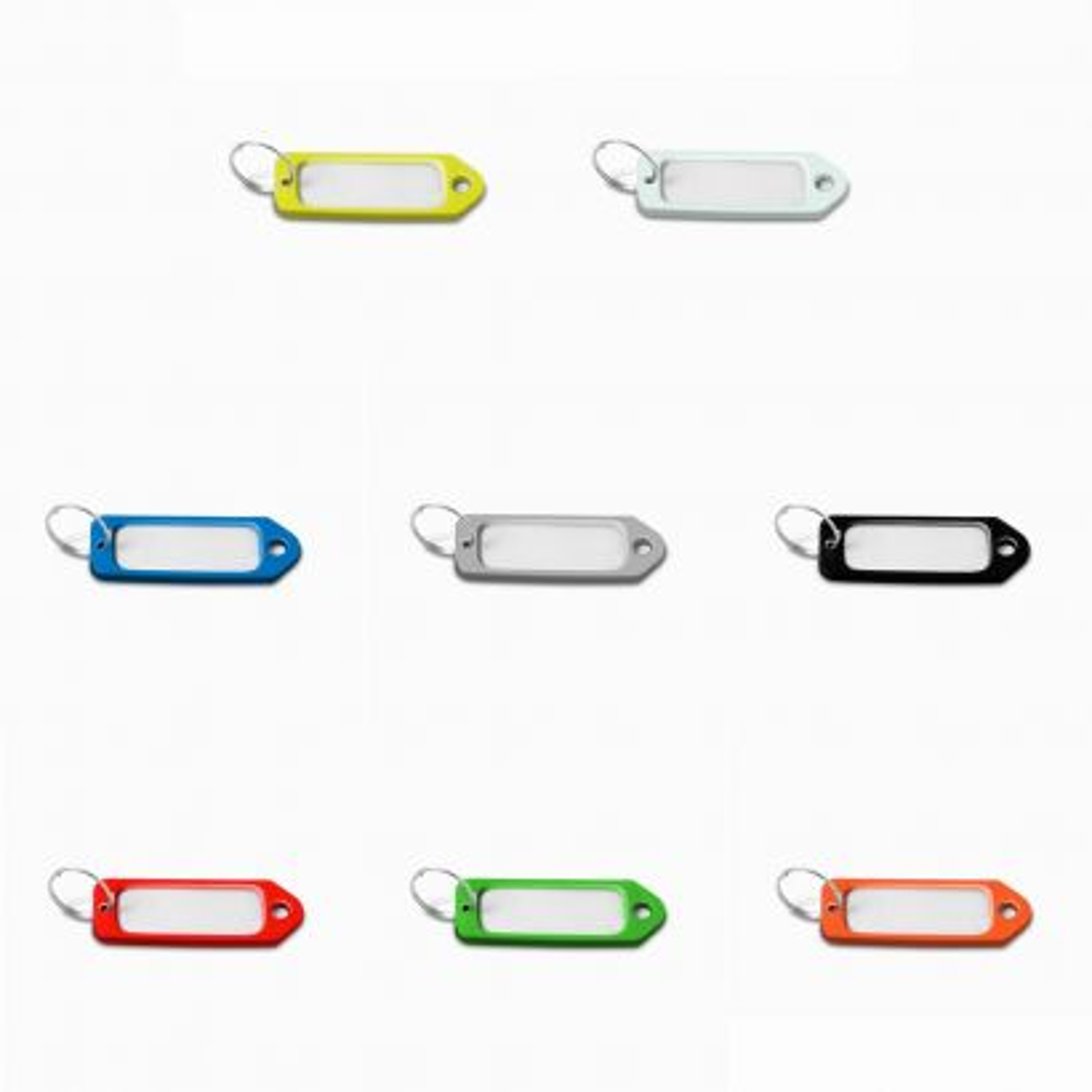 Portaetiquetas plástico / 8 colores x 1 u.Blister 8 ud