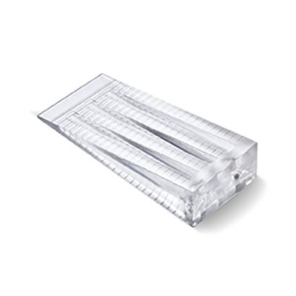 Cuña plástico. Mediana (66x30x15 mm) / Transparente. Blister 2 uds.