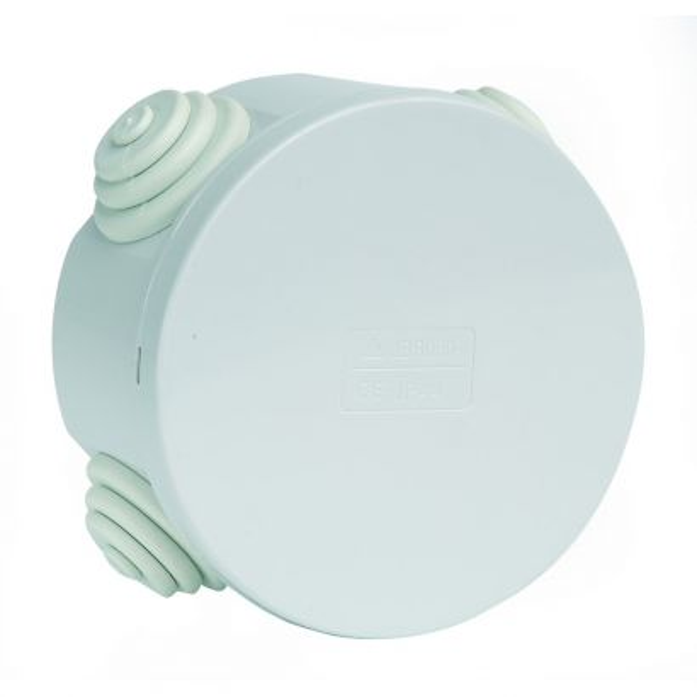 Caja estanca redonda ø85x45mm blanca con cierre a presión