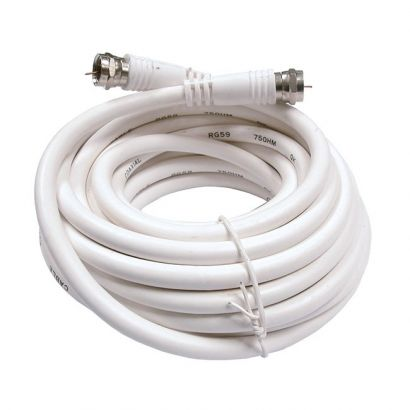 Cable Antena Blanco Conexion Tv Satelite F  5m,