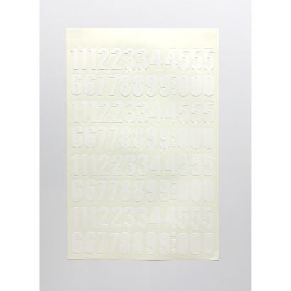 Numero Folio 30mm Blanco
