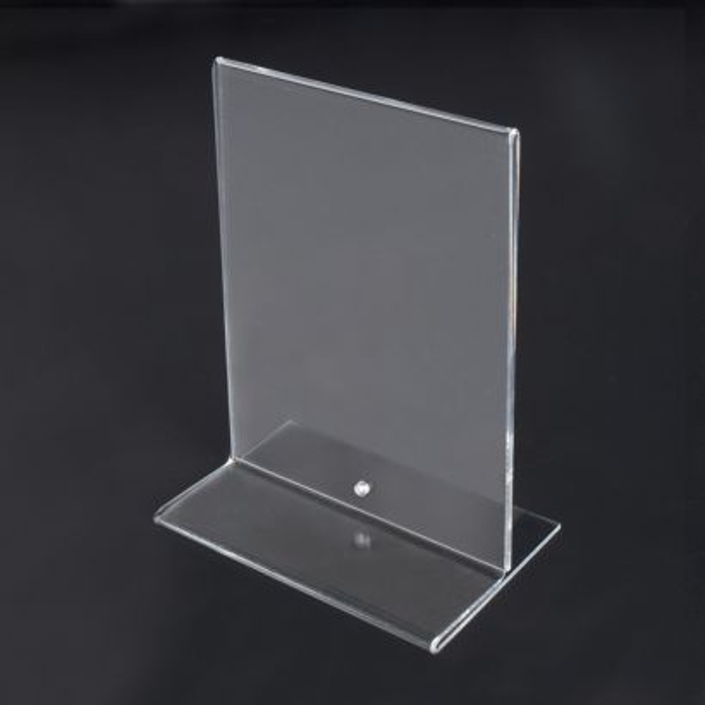 Portamenús de Metacrilato transparente con tornillo