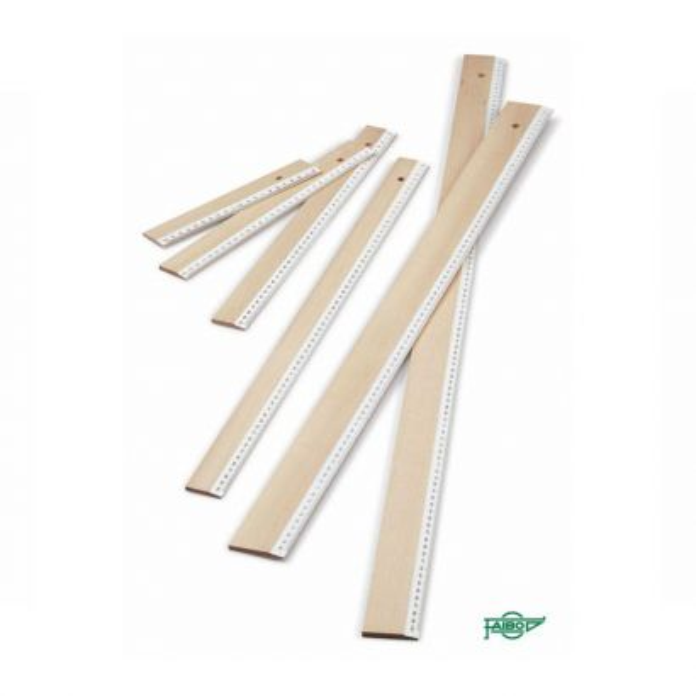 Reglas madera - ref. 51-80 / reglas madera escolares / 80 cm.