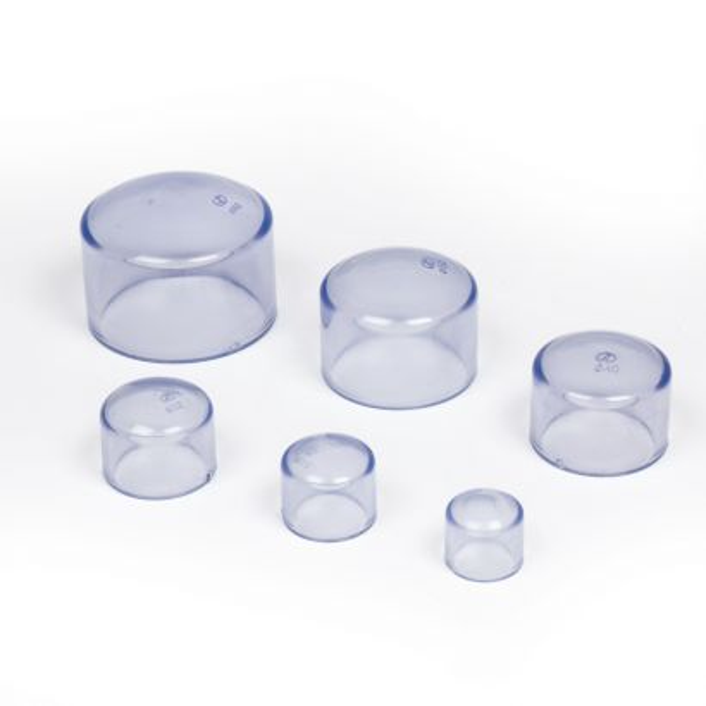 Tapón de PVC transparente alimentaria