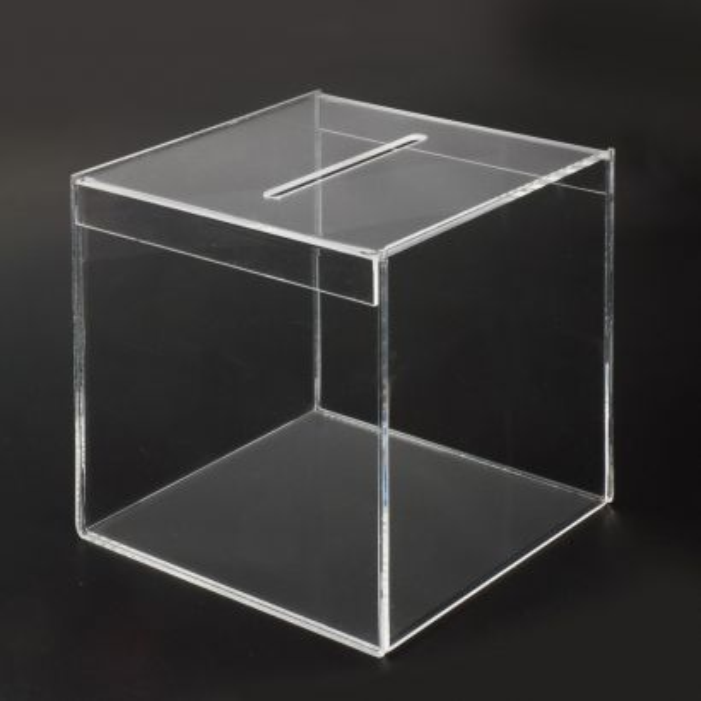 Urna de Metacrilato transparente