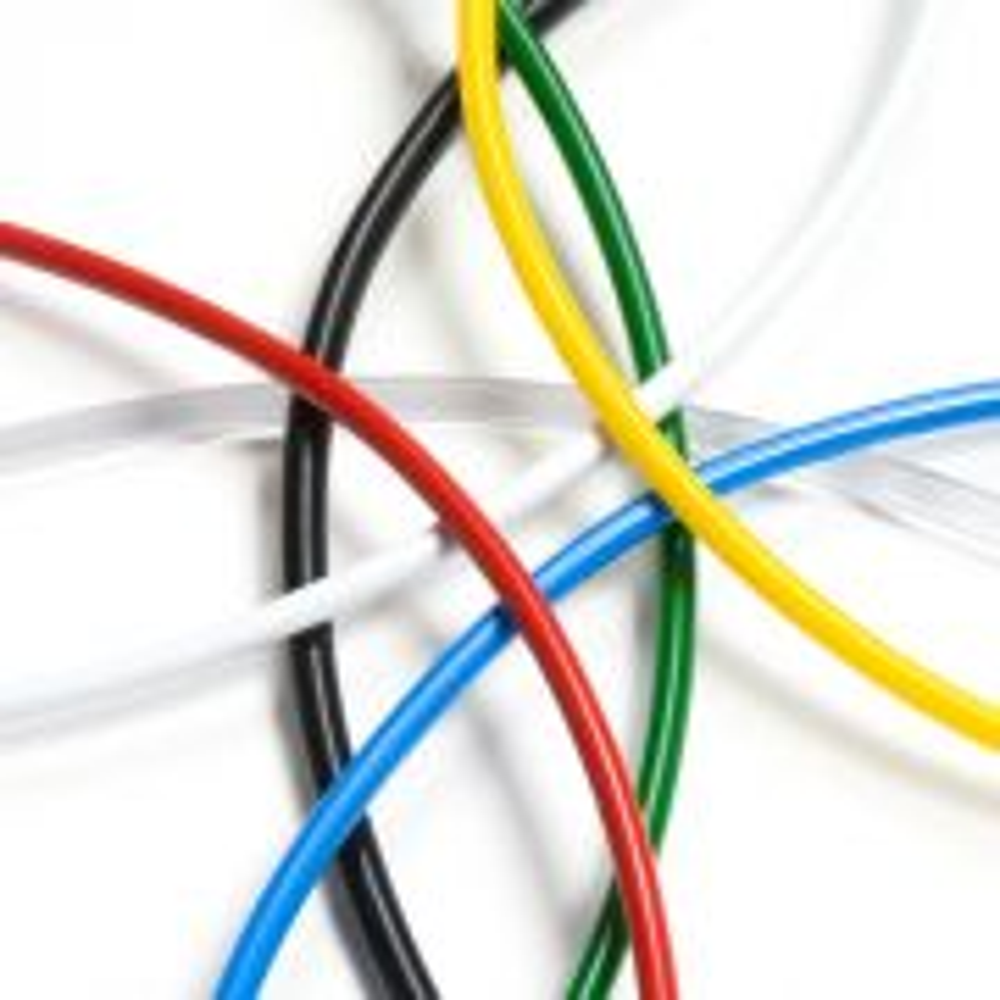 Cordón macarrón macizo de PVC colores