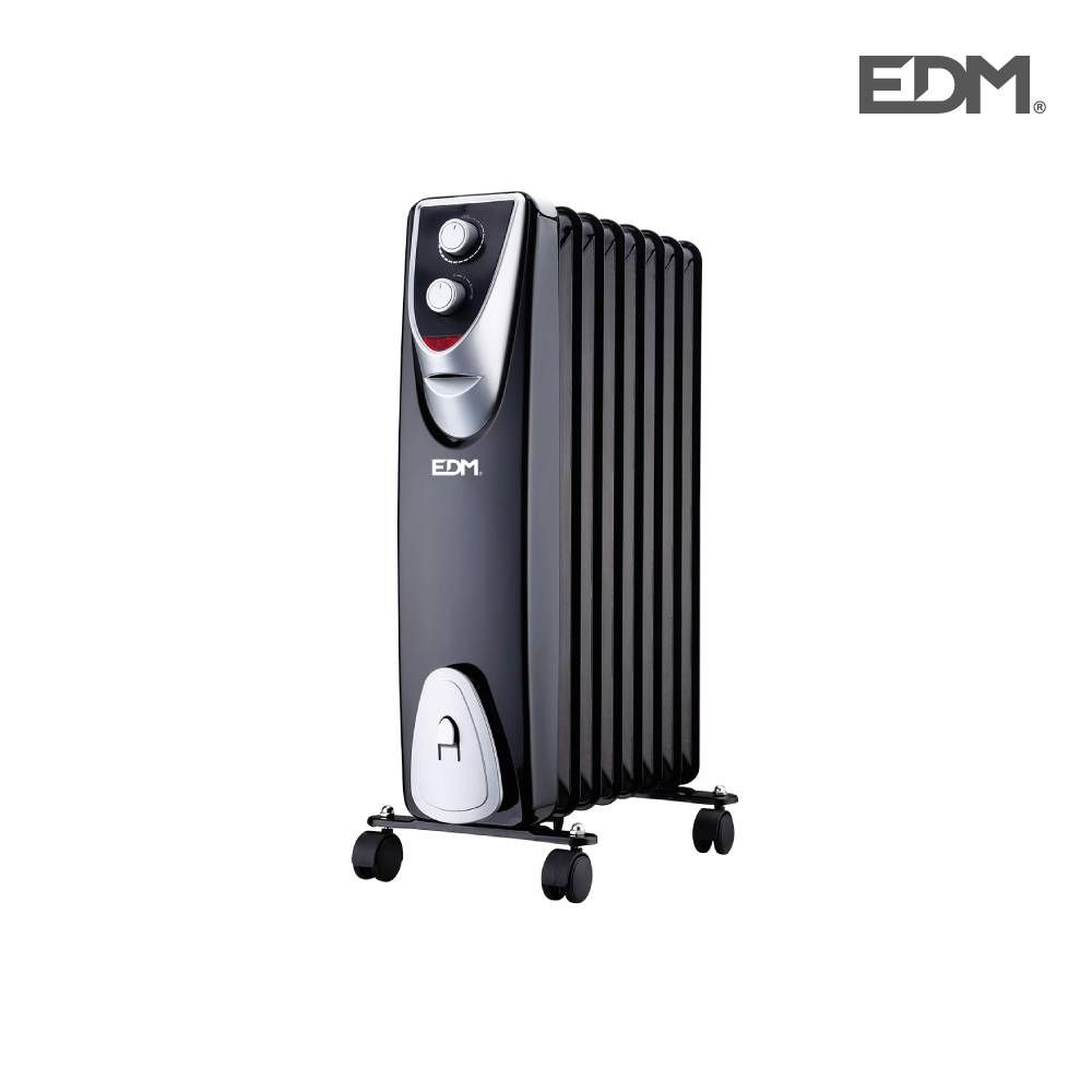 Radiador 8 elementos sin aceite 1500w.