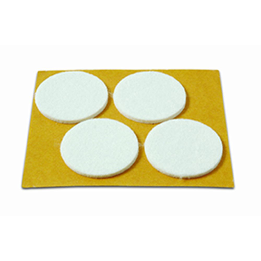 Deslizadores Ø 38 mm / Blanco. Blister 4 discos