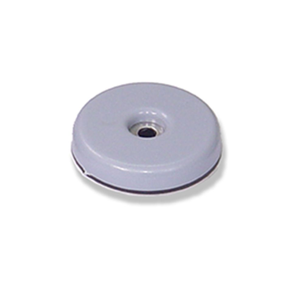 Deslizadores para muebles Ø 38 mm. Adhes+tornillo / Gris. Blister 4 uds.