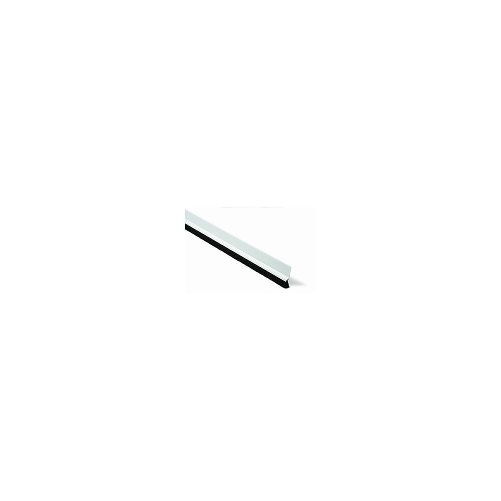 Burlete bajo puerta. 100 cm. Pelo 13 mm Adhesivo / Blanco. Blister 1 tira