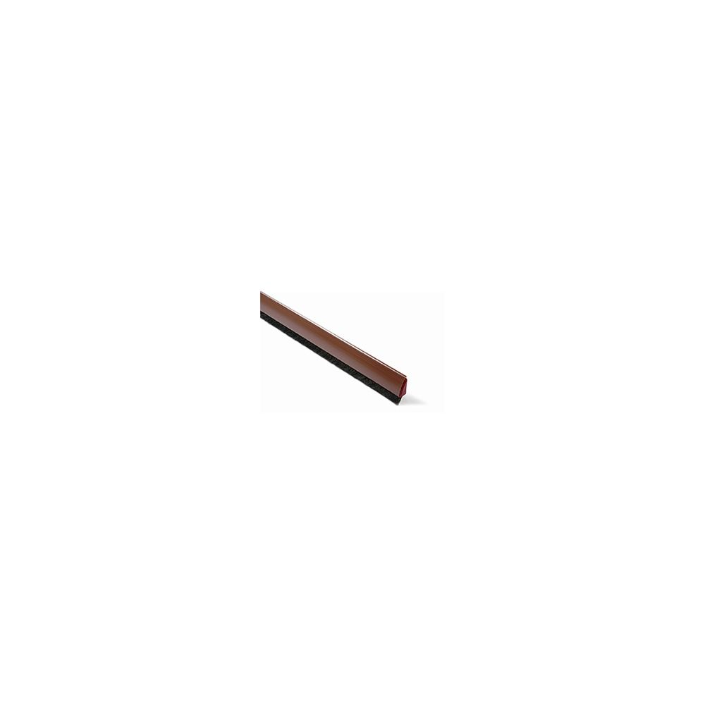 Burlete Curvado. 100 cm. Pelo 13 mm Adhesivo / Marrón. Blister 1 tira