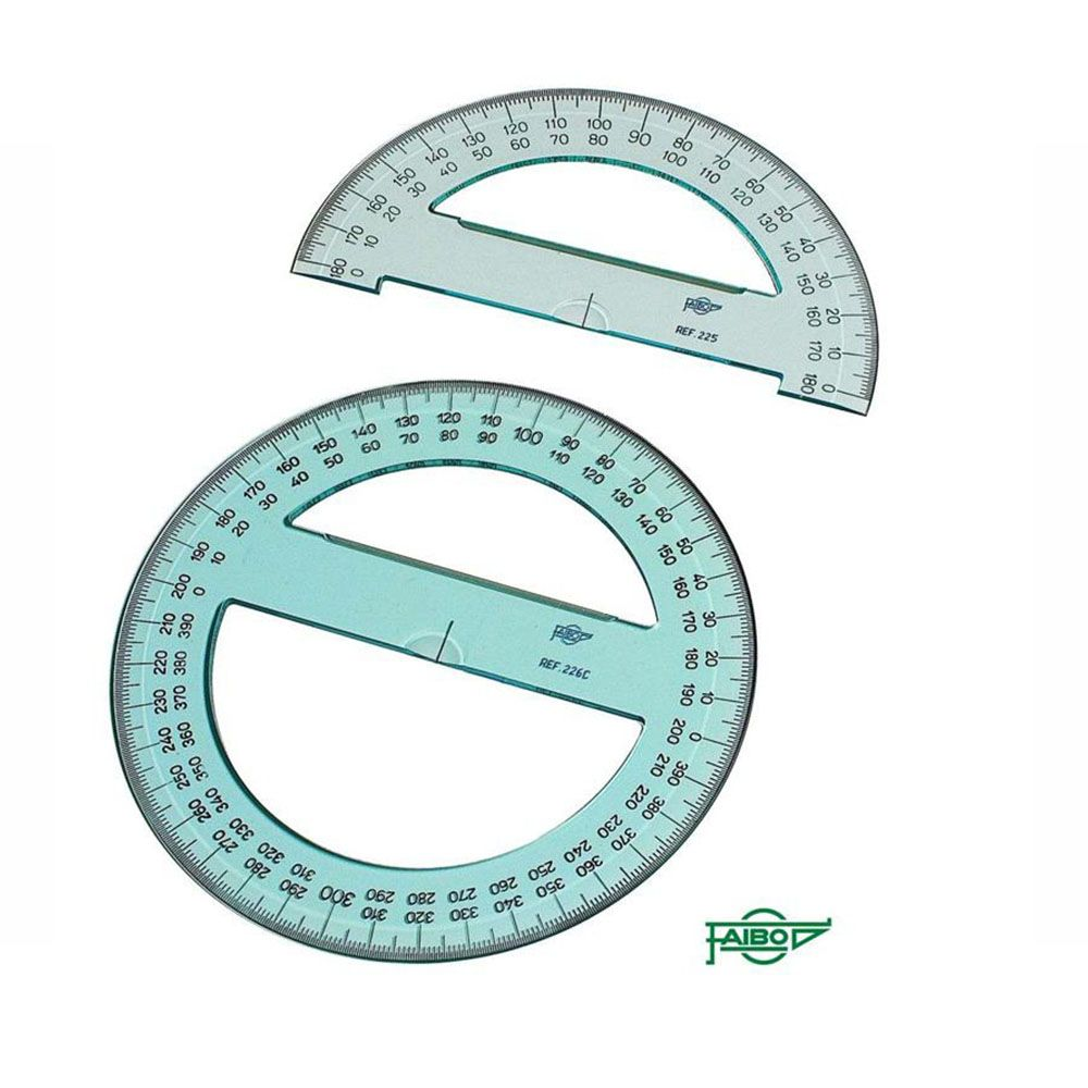 Círculos y semicírculos - ref. 225 / semicirculos serie tecnit / 15 cm.