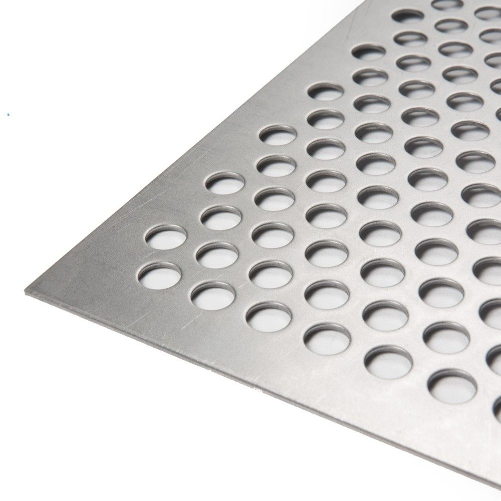Plancha de Acero perforada