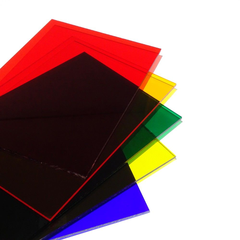 Plancha de Poliestireno rígido transparente colores